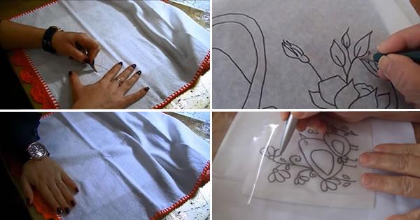 risco de pintura em tecido