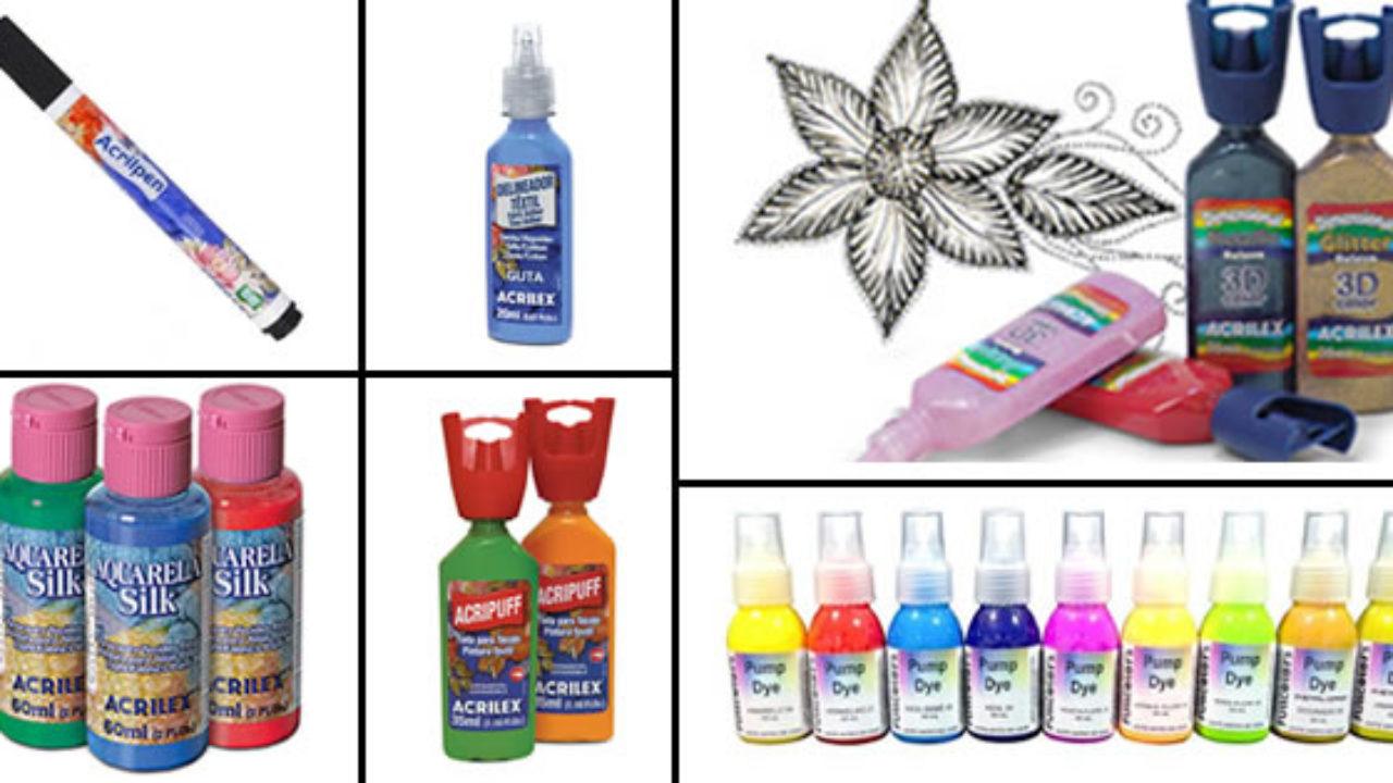 5e9ebd076 7 Tipos de Tinta para Tecido que Você Precisa Conhecer - Escola de Pintura