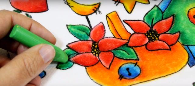 técnicas de pintura - giz de cera