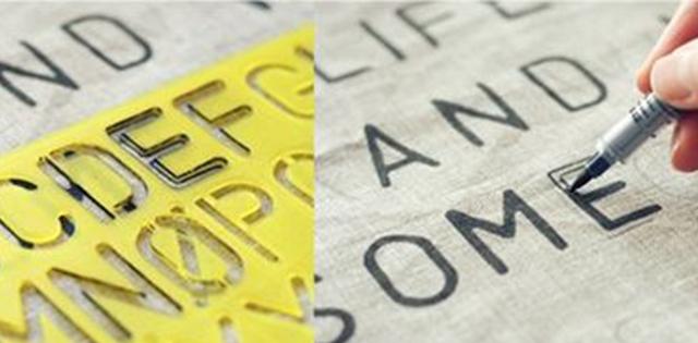 Molde para letras