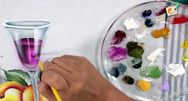 como pintar gota em tecido