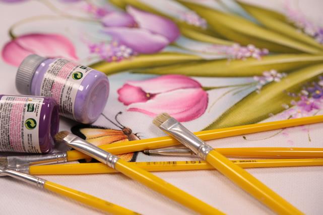 Pincéis para pintura em tecido