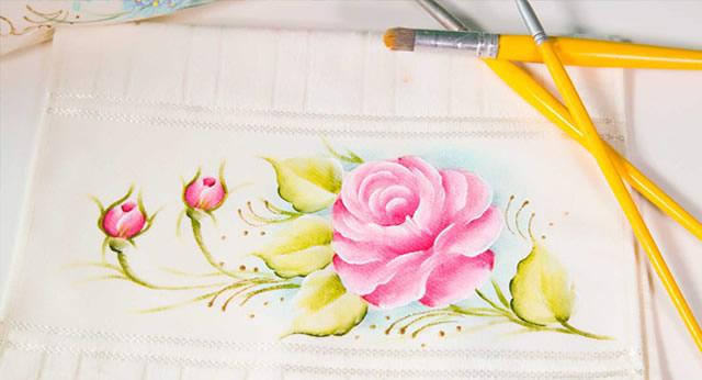 Pintura em tecido para o Dia das Mães - Baixe grátis riscos de pintura
