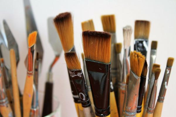 Pincéis para pintura em tecido - riscos de pintura