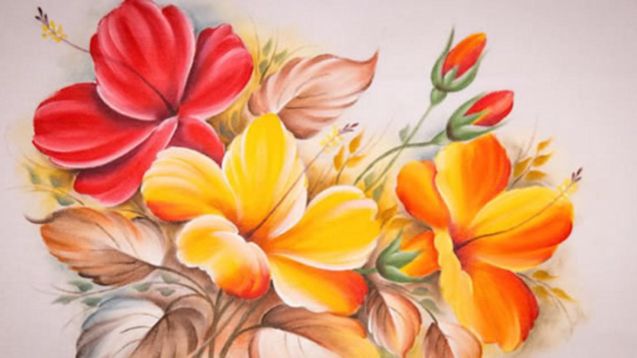 5 Riscos De Flores Para Imprimir E Pintar Em Tecido Escola