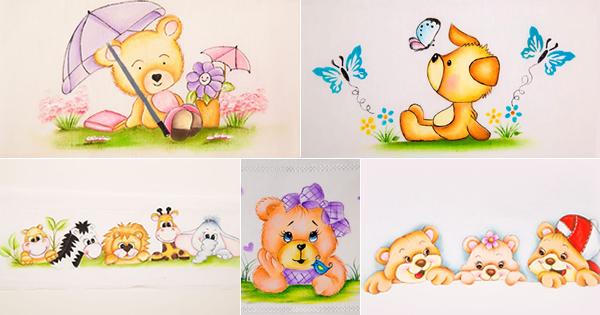 Desenhos Para Pintura Tecido Infantil Capa Escola De Pintura