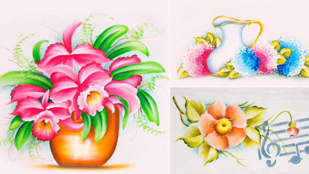9 Modelos De Flores Para Pintar Passo A Passos E Riscos Gratis