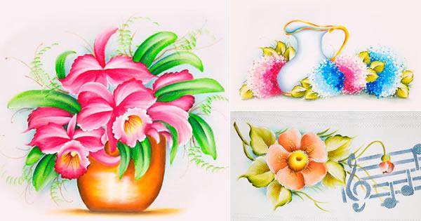 9 Modelos De Flores Para Pintar Passo A Passos E Riscos