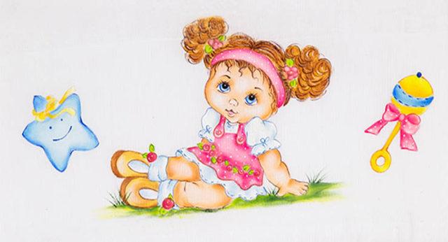 pintura de bebês em tecido