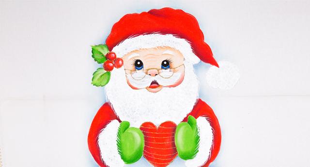 Pano de Prato de Natal - Noel com coração