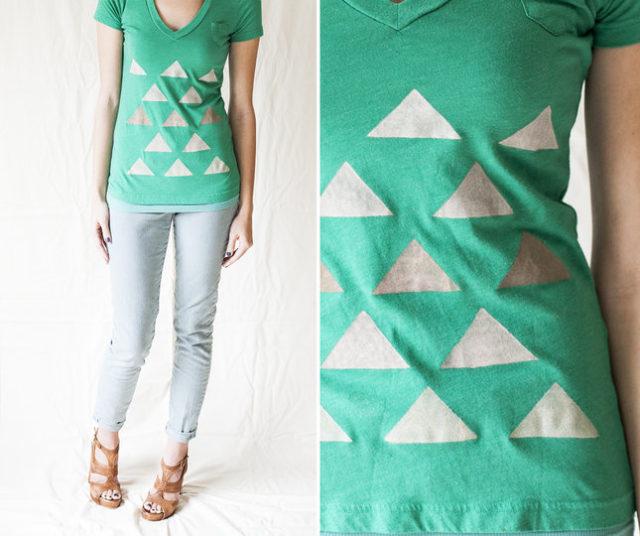 Como Estampar Camisetas - triângulos