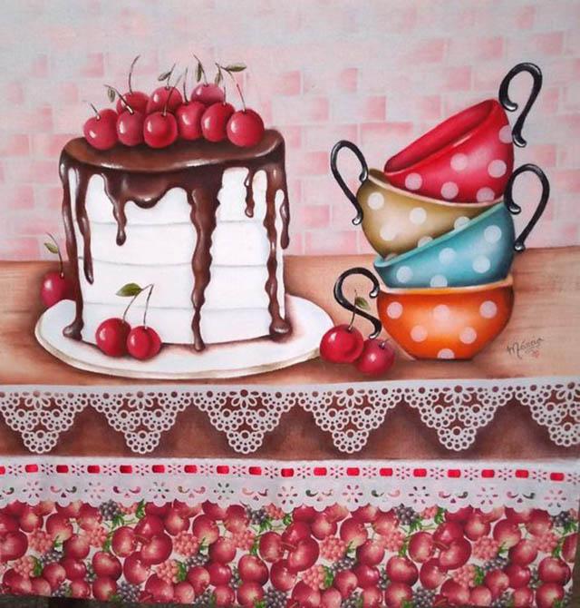 pano de prato decorado