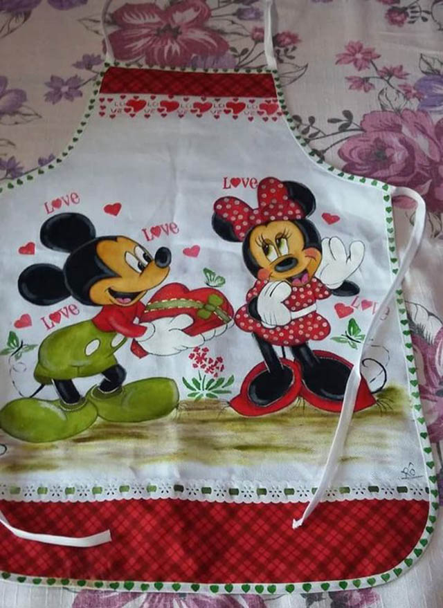 pintura em tecido para avental