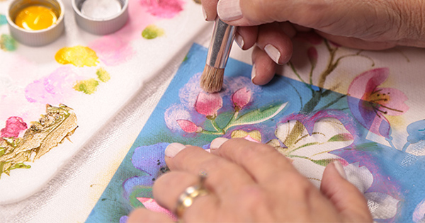 pintura com stencil
