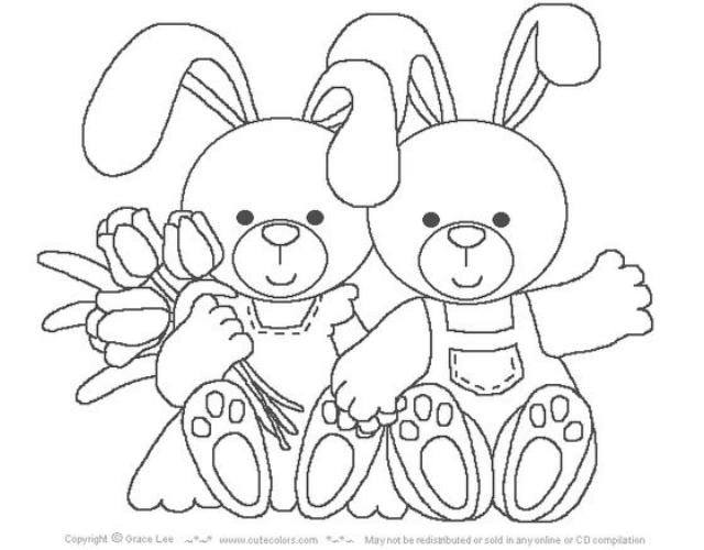Risco de coelhos da Páscoa