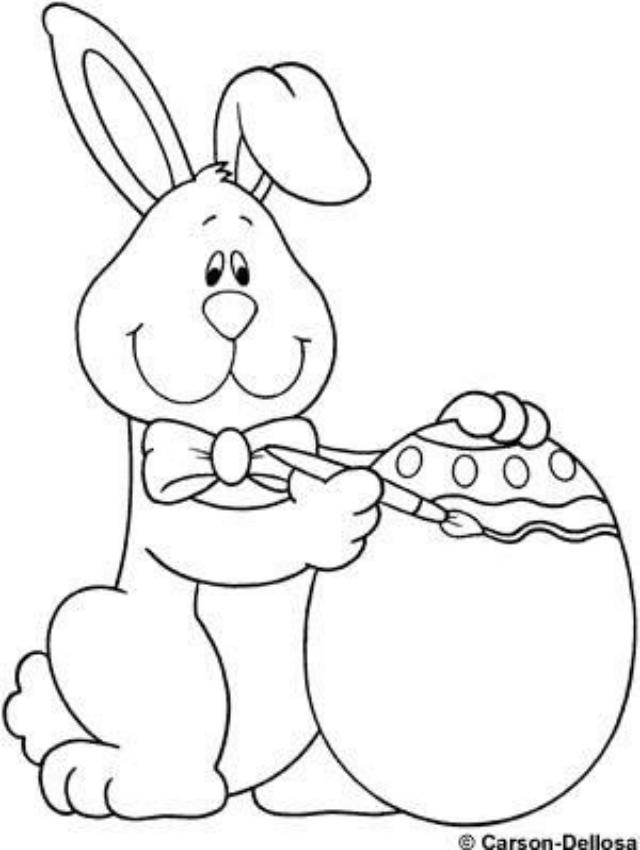 Risco de coelho da Páscoa e ovo