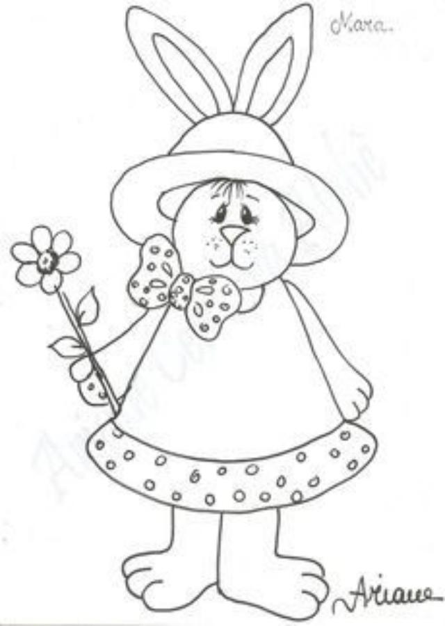 Risco de coelho da Páscoa