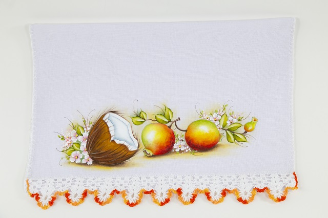 Pintura de frutas e flores
